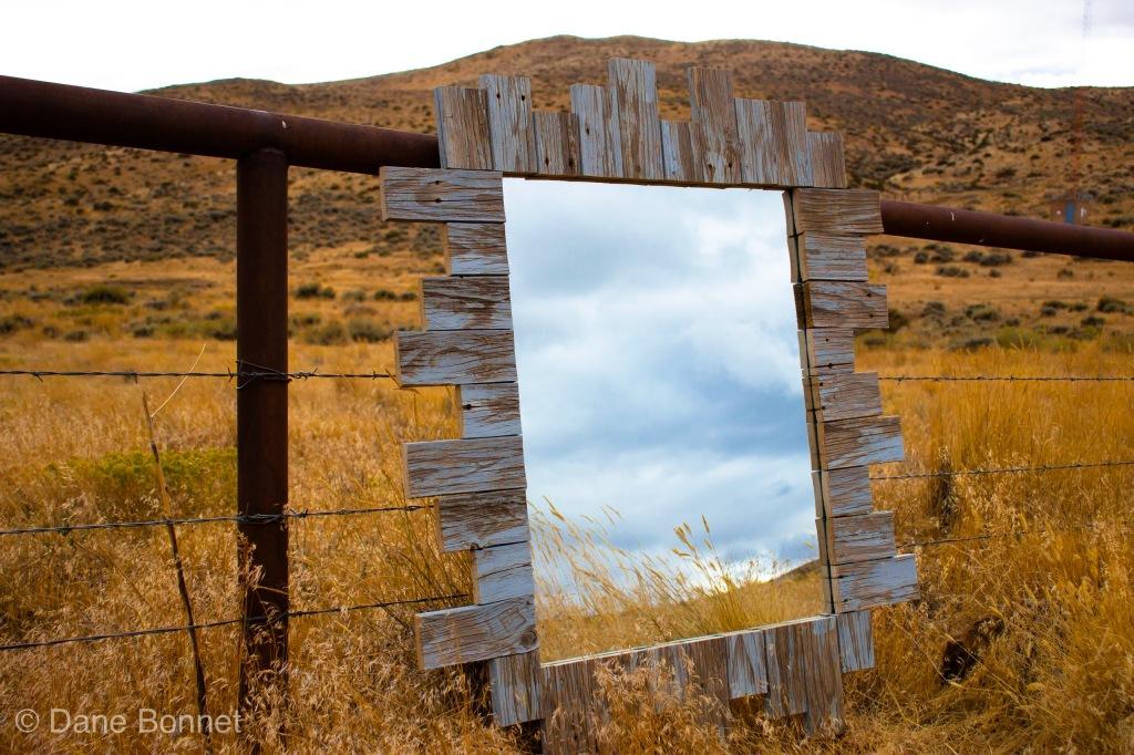 Mirror Framed in Barn Wood.