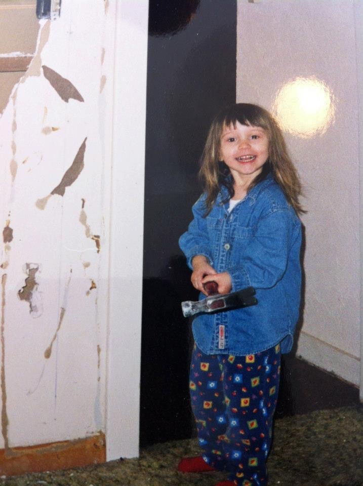 Image of Myself as a Child with a Hammer.