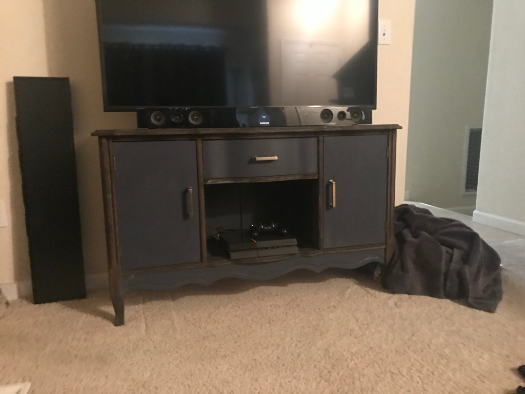 Finished TV Stand.