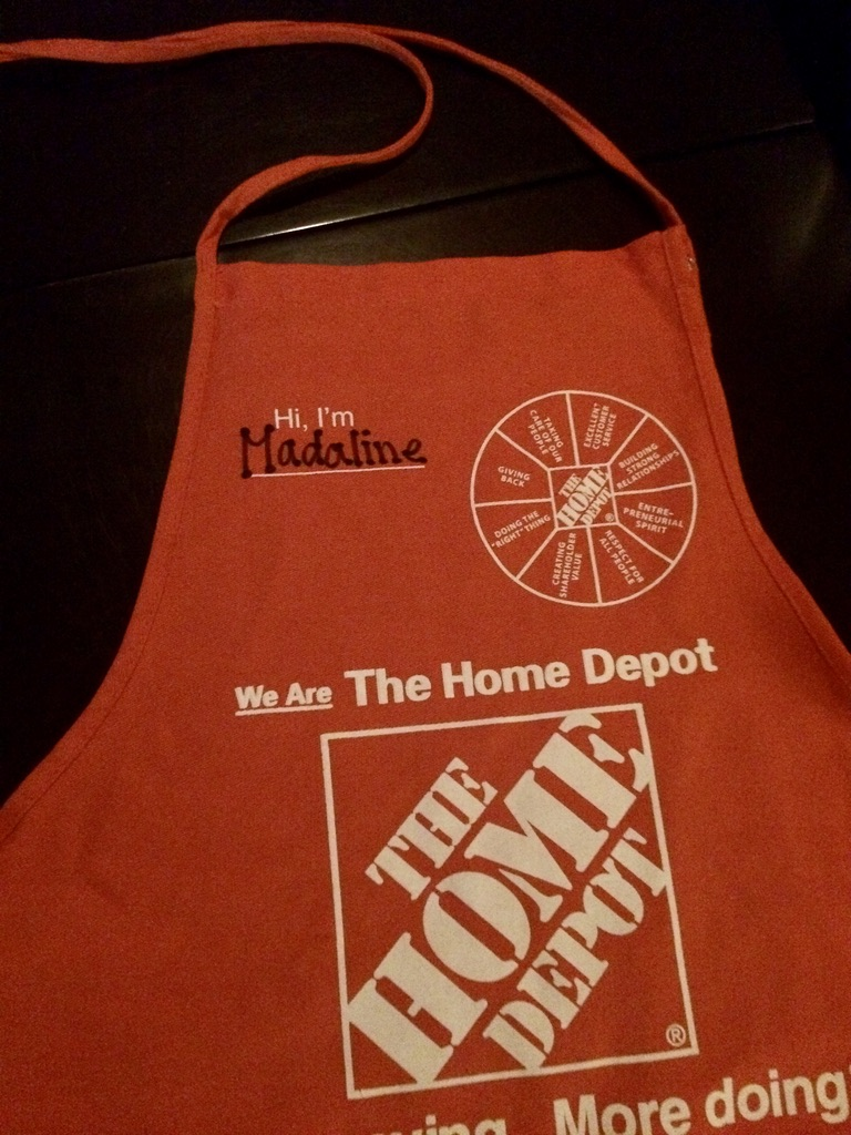 My orange Home Depot apron.