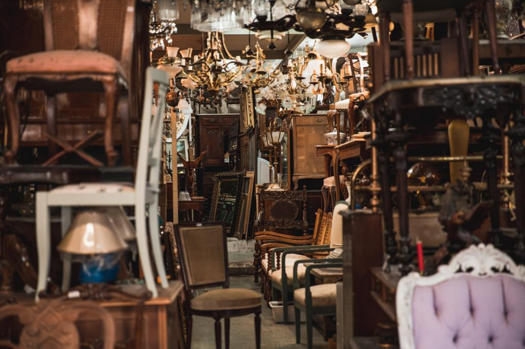 Thrift Store Chairs! Photo by Anastase Maragos on Unsplash