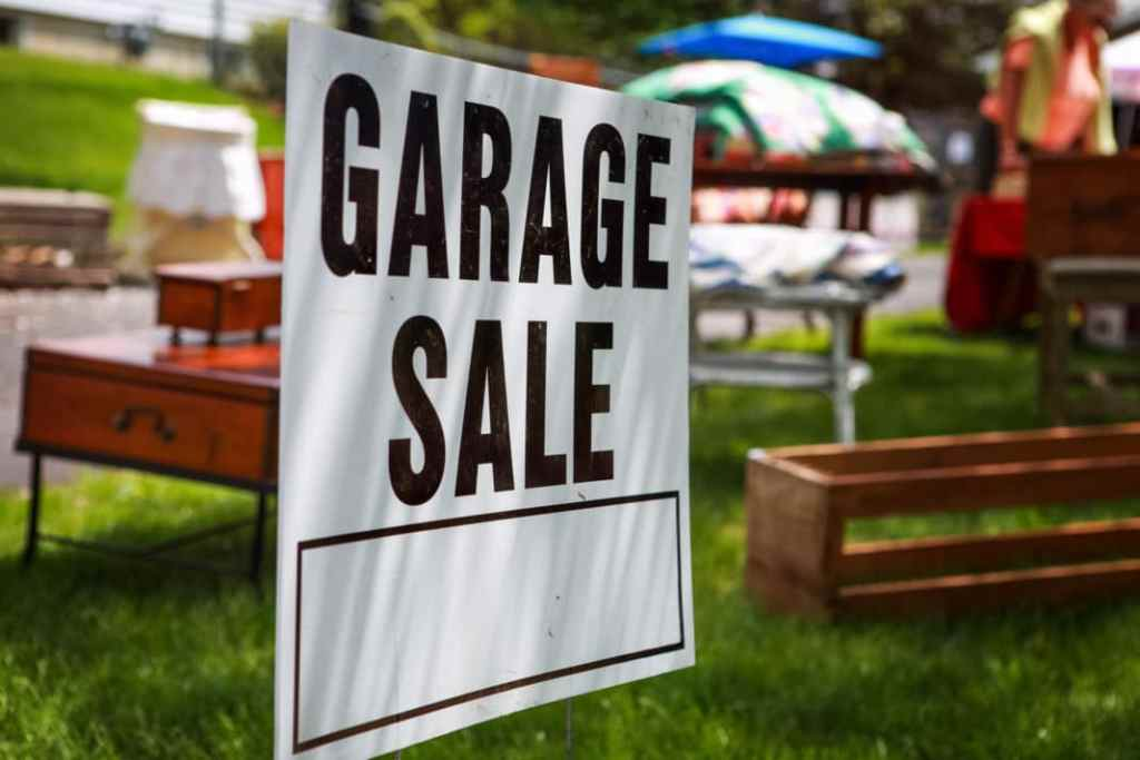 Garage Sale Sign.